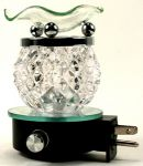 Round Clear Crystal Plug-in Oil Warmer