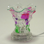 Multi - Colored Crystal Glass Oil Warmer