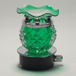 Round Green Crystal Plug-in Oil Warmer