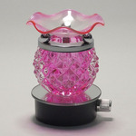 Round Pink Crystal Plug-in Oil Warmer
