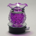 Round Purple Crystal Plug-in Oil Warmer