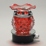 Round Red Crystal Plug-in Oil Warmer
