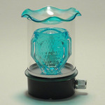 Blue Bowl/Clear Glass Plug-in Oil Warmer