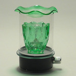 Green Glass Plug-in Oil Warmer