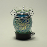 BLue Crackle Glass Plug-in Oil Warmer