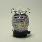 Pink Crackle Glass Plug-in Oil Warmer