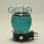 Crackle Glass Oil Warmer
