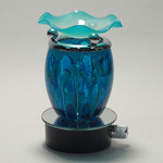 Blue Fractal Glass Plug-in Oil Warmer