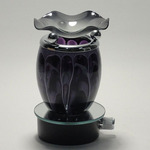 Black Fractal Glass Plug-in Oil Warmer