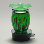 Green Fractal Glass Plug-in Oil Warmer