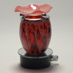 Red Fractal Glass Plug-in Oil Warmer