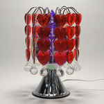 Touch Lamp Wih Hanging Red Hearts