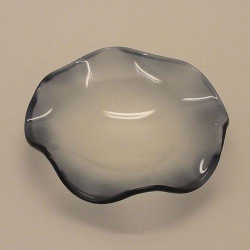 A D5b A D5b Blue Big Glass Wavy Dish Oil Dishes