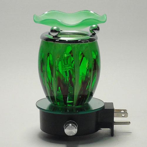 E 760g Green Fractal Glass Plug In Oil Warmer Glass Oil