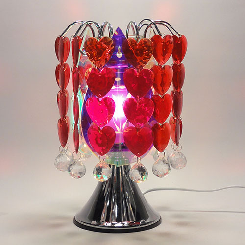 TE-58 Touch Lamp Wih Hanging Red Hearts