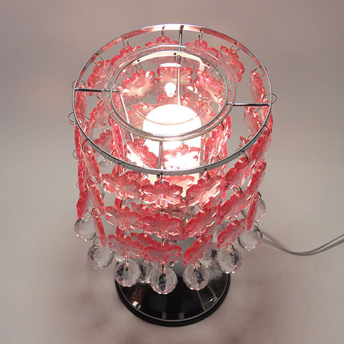 TE-59 Touch Lamp With Pink Hanging Snowflakes
