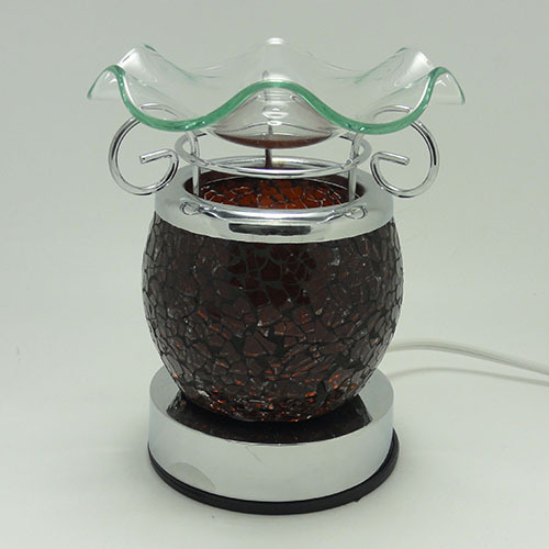 Electric Oil Warmers ~ Te br crackle glass electric touch oil warmer